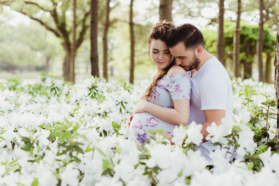 floral maternity shoot