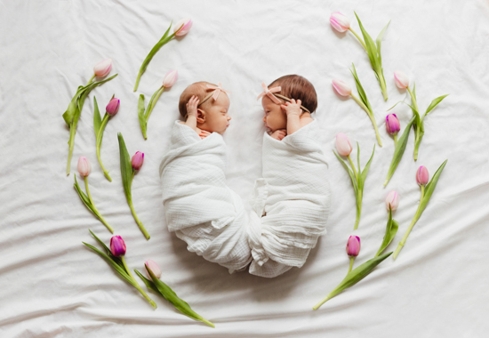 spring twins newborn